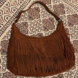 Minnetonka BOHO Leather SUEDE Fringe Shoulder Bag!